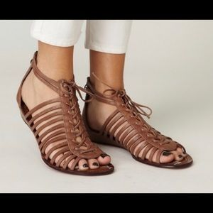 Sam Edelman | Brown Leather Lace-up Sandals | 8.5